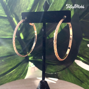 VINTAGE VIBE HOOPS- STAINLESS STEEL - GOLD