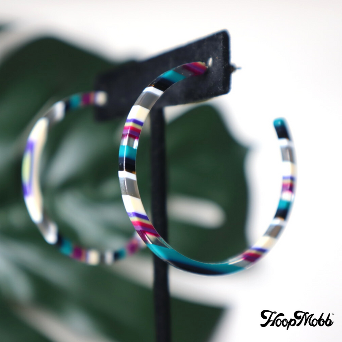 DATE NIGHT HOOPS - TURQUOISE