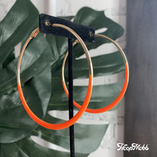 Load image into Gallery viewer, SKINNY DIPPED HOOPS - ORANGE