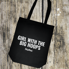 Load image into Gallery viewer, GIRL W/ THE BIG HOOPS SHOPPING TOTE