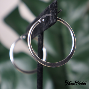 FLAT OUT VINTAGE HOOPS - STAINLESS STEEL - SILVER/SMALL