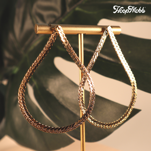 CHAIN HANG LOW HOOPS -14K GOLD FILLED