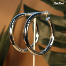 Load image into Gallery viewer, BABY FAT HOOPS - SILVER