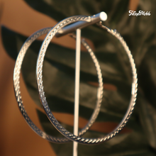 Load image into Gallery viewer, CROSS OVER HOOPS - 14K GOLD-FILLED - SILVER