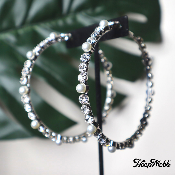 DIAMOND & PEARL HOOPS