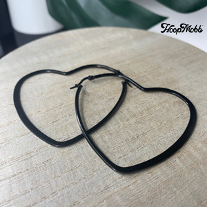 HEART OF STEEL - STAINLESS STEEL - BLACK