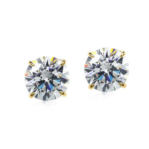 Eternal Four Prong Round Studs 9KYG