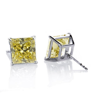 Elegant Princess Studs in Canary Yellow