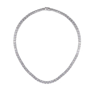 Round Brilliant Tennis Necklace