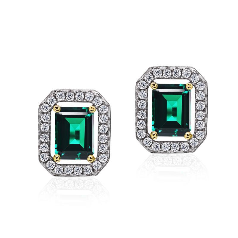 Eton Emerald Green Borderset Studs
