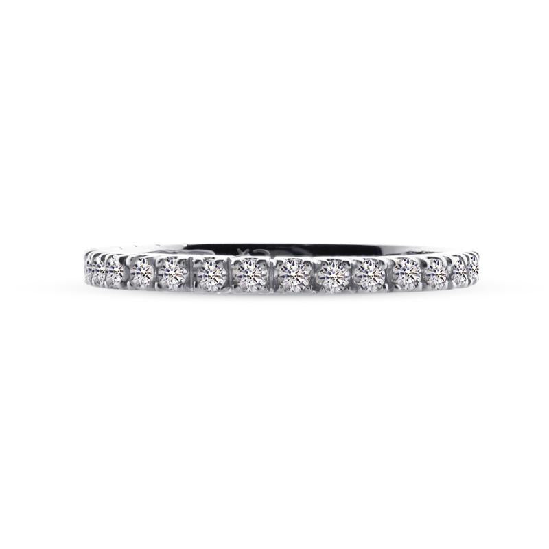 Fallon Half Eternity Ring Sterling Silver