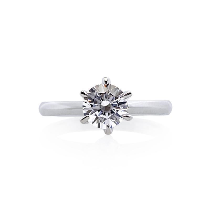 Maverick Round Ring White Gold