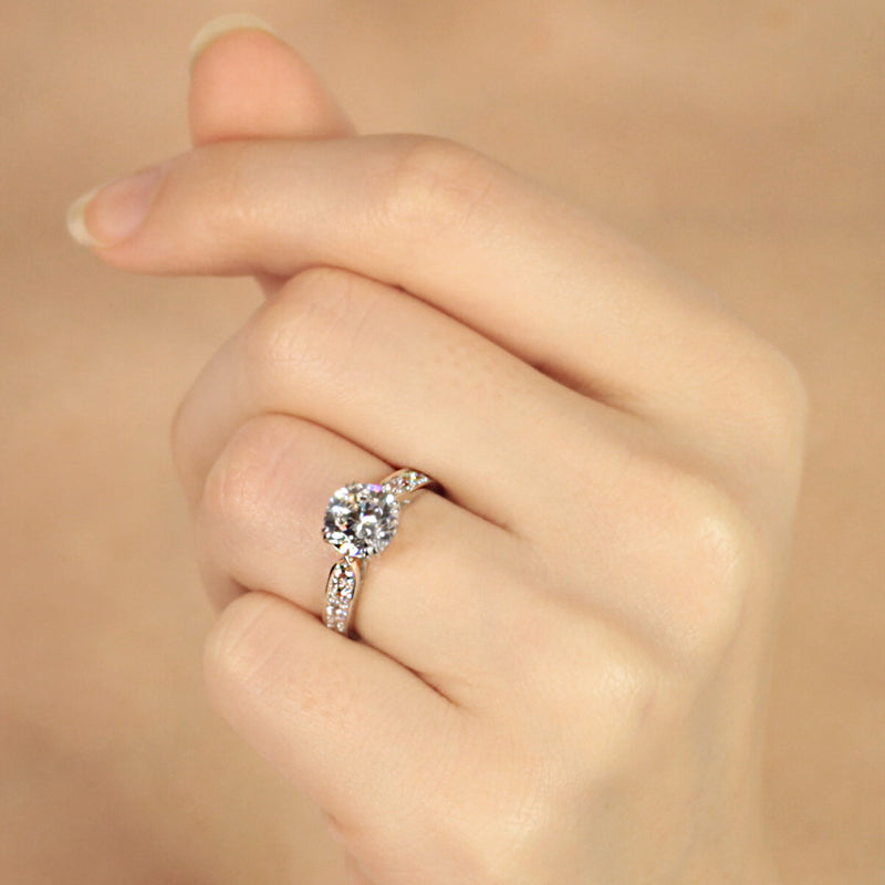 Danielle Ring 9K White Gold