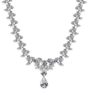 Floret Pear Drop Grand Necklace