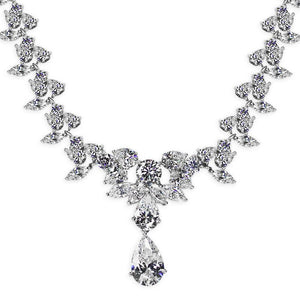 Leona Pear Drop Grand Necklace