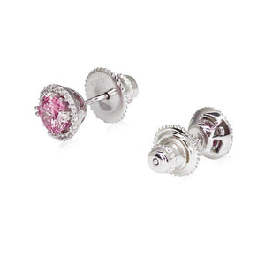 Border Set Studs in Fancy Pink