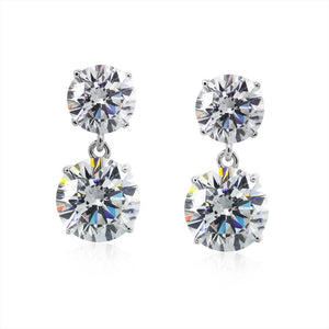 Gia Double Round Drop Earrings