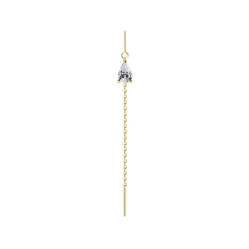 Veda Drop Earring in Yellow Gold