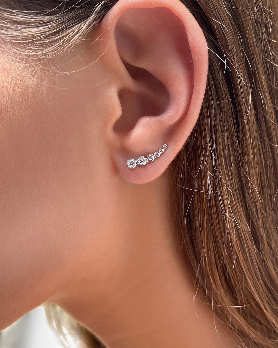 Carissa Graduated Rounds Cluster Earrings
