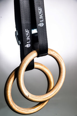 WOODEN GYMNASTIC RINGS (By UKSF)