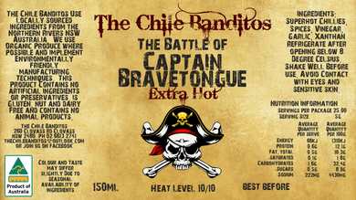 The Battle Of Captain Bravetongue Extra Hot Sauce