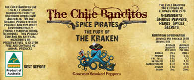 The Fury Of The Kraken Gourmet Smoked Chilli Flakes