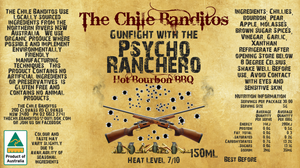 Gunfight With The Psycho Ranchero Bourbon BBQ Sauce