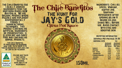 The Hunt for Jay's Gold Citrus Chilli Sauce