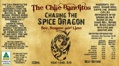 Chasing The Spice Dragon Soy, Chilli and Sesame