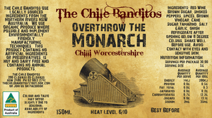 Overthrow The Monarch Red Wine and Chilli Worcstershire Sauce
