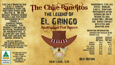 The Legend of El Gringo Australian Table Sauce