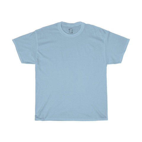 Plain Baby Blue Crew-Neck