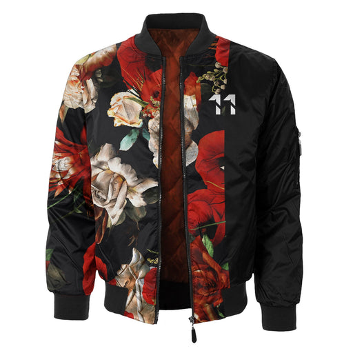 Antique Flowers Bomber Jacket