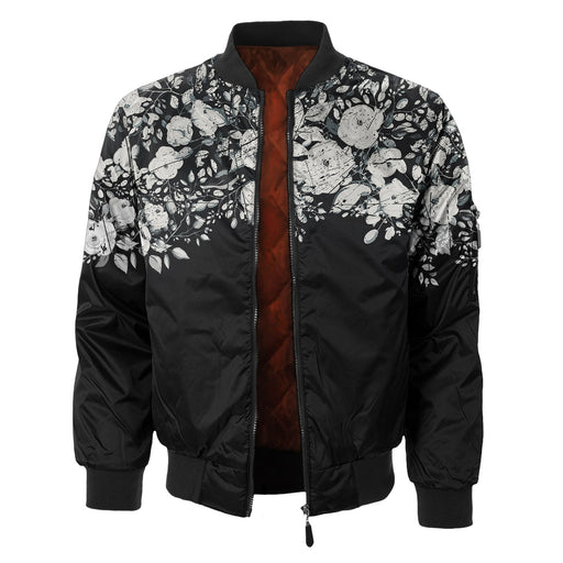White Rose Blossom Bomber Jacket