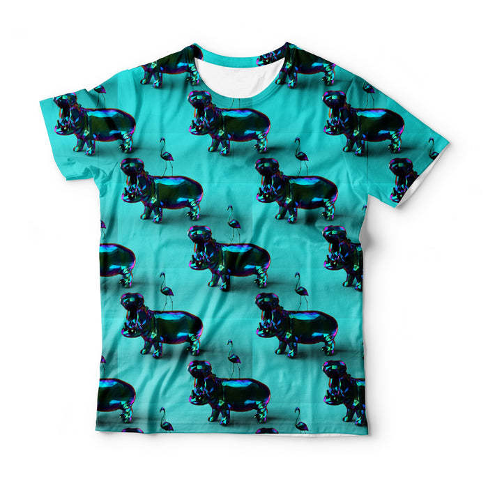 Hippo Pattern T-Shirt