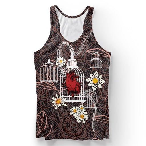 Blocked Heart Tank Top