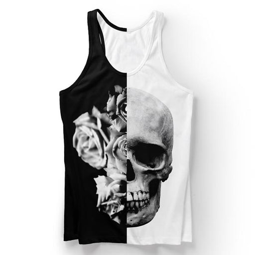 Black & White Skull Tank Top