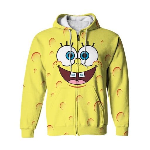 Yellow Smile Zip Up Hoodie