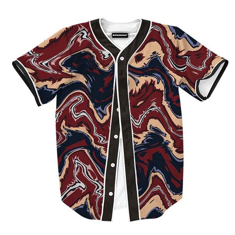 Abstract Brown Liquid Jersey