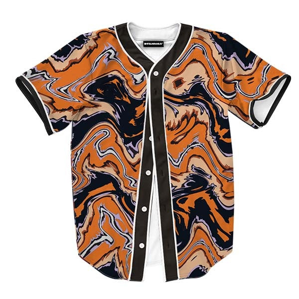 Abstract Orange Liquid Jersey