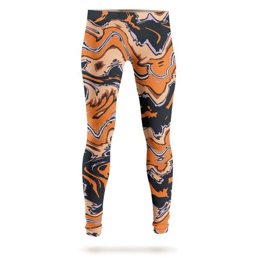 Abstract Orange Liquid Leggings