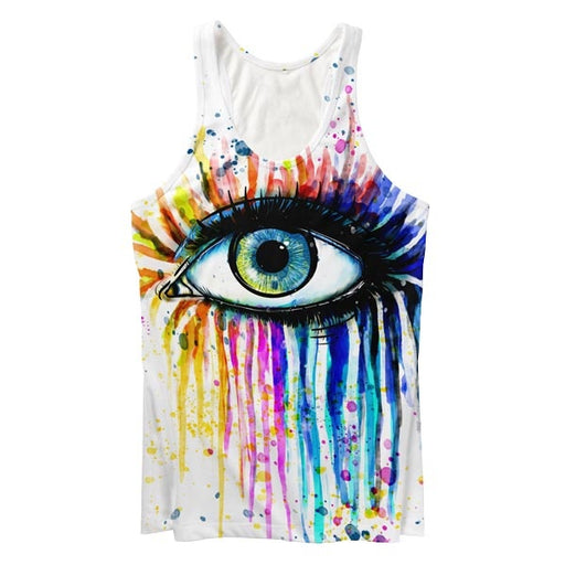 Watercolor Eye Tank Top