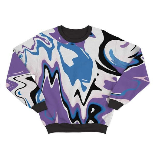 Abstract Purple Liquid Sweatshirt