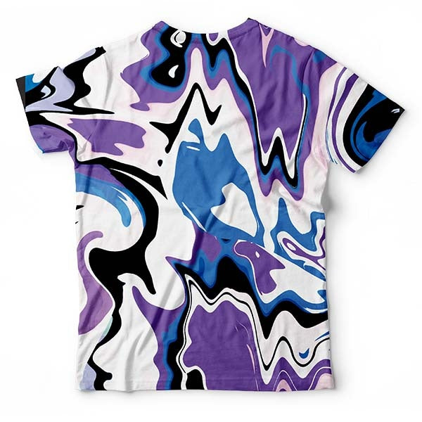 Abstract Purple Liquid T-Shirt