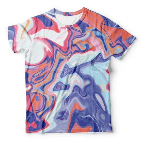 Abstract Red Liquid T-Shirt