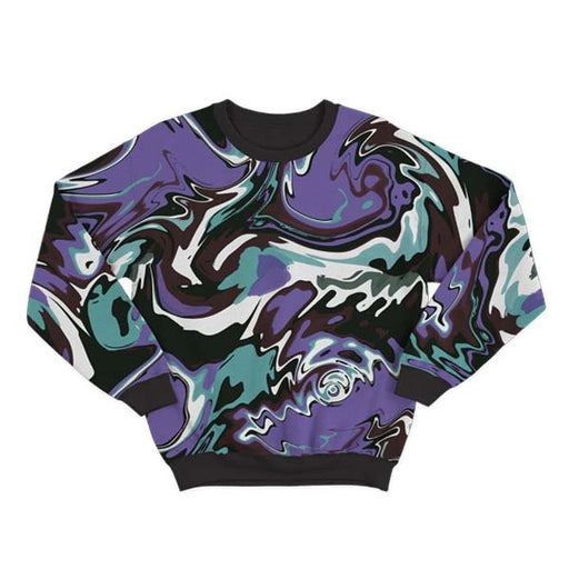 Abstract Green Liquid Sweatshirt
