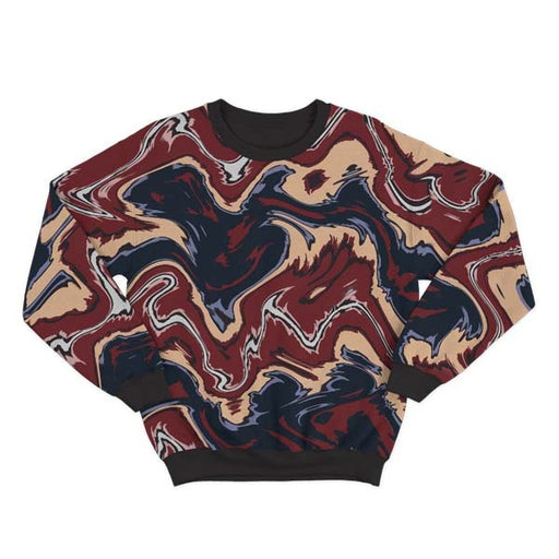 Abstract Brown Liquid Sweatshirt