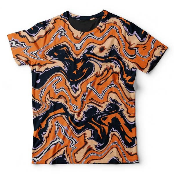 Abstract Orange Liquid T-Shirt