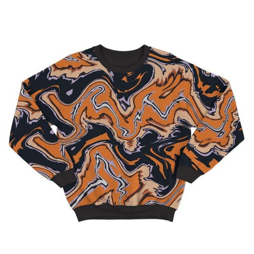 Abstract Orange Liquid Sweatshirt