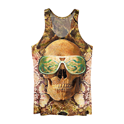 Skull with Glasses Tank Top